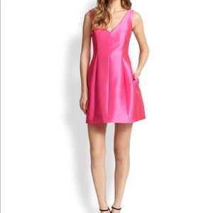 Kate Spade Silk Dress In Rio Pink